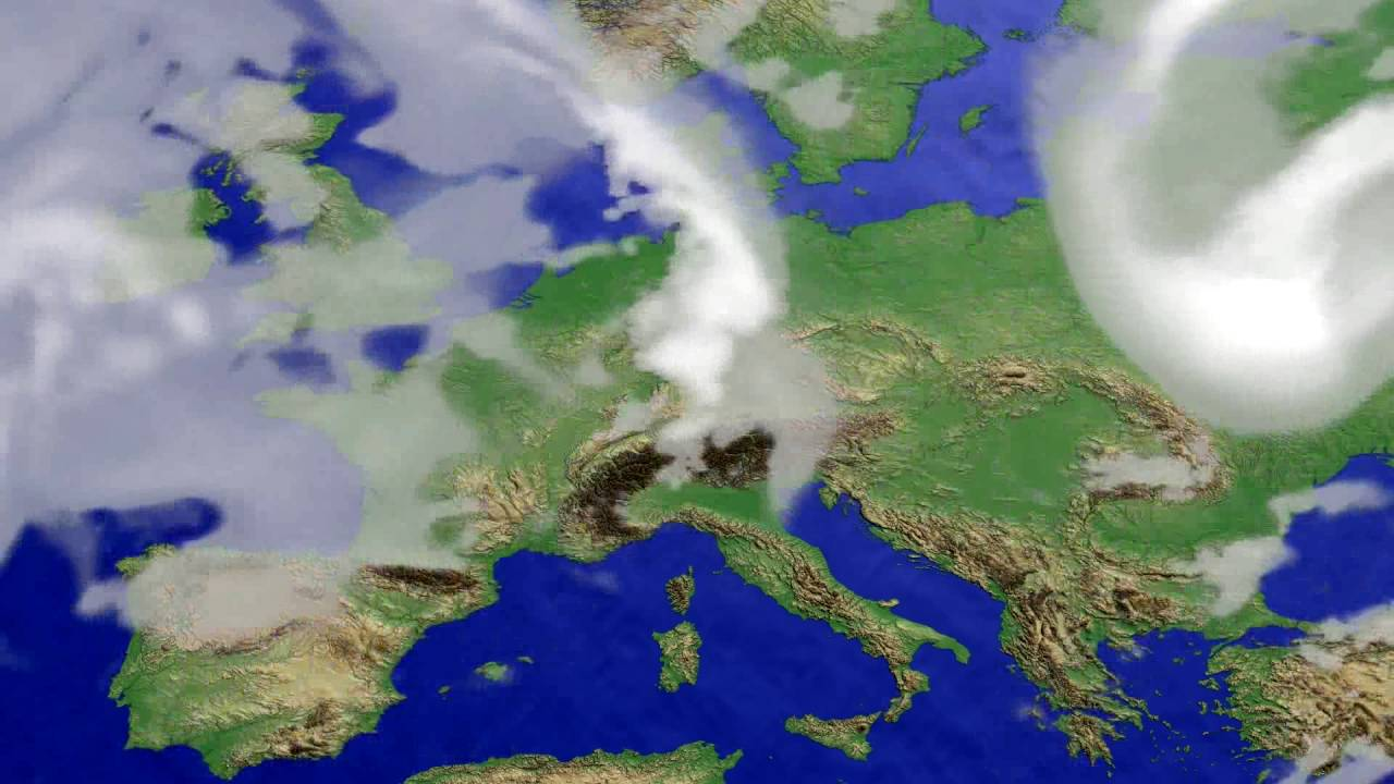 Cloud forecast Europe 2016-07-19