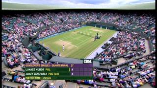 Tennis Highlights, Video - Kubot - Janowicz Wimbledon 2013 quarter final SET 1 (3:3)
