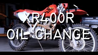 7. Honda XR400R Oil Change with Frame Screen