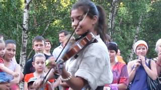 Abakan Russia  City pictures : Abakan Festival violin player in Russia Siberia July 2010