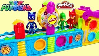 Video PJ MASKS Catboy Gekko and Owlette Use Play Doh Mega Fun Factory Playset to Collect Surprise Toys! MP3, 3GP, MP4, WEBM, AVI, FLV Agustus 2017