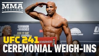 UFC 241 Ceremonial Weigh-In Highlights - MMA Fighting by MMA Fighting