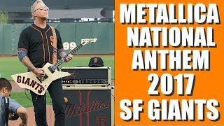 METALLICA STAR SPANGLED BANNER San  Francisco Giants Night 2017, James Hetfield Interview