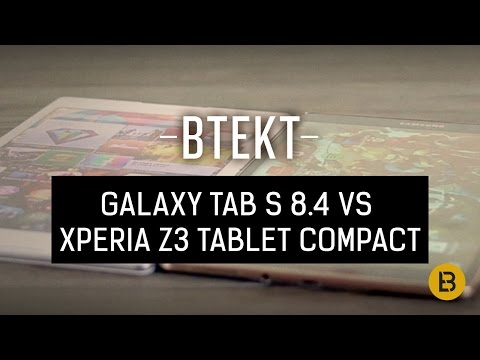 tab - In a vs comparison we pit the Samsung Galaxy Tab S 8.4 against the new Sony Xperia Z3 Tablet Compact - slim vs slimmer, AMOLED vs IPS, Exynoss vs Qualcomm, l...