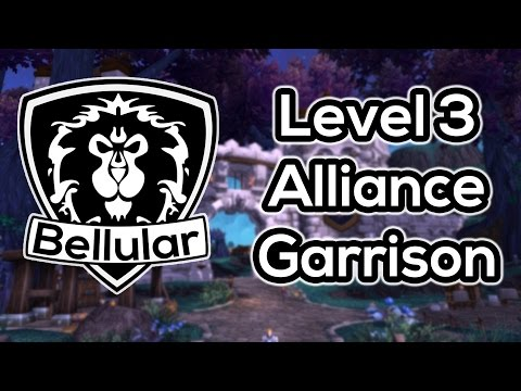 garrison - Lets take a look at the rather impressive level 3 alliance garrison! Warlords of Draenor is still in beta however this does appear to be quite well finished....