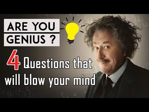 4 Mind Blowing Questions Only Genius Can A Answer-Part-1 | 95% Fail |  Genius IQ Test  |