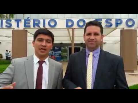 Prefeito Arizinho em Brasília no Ministério do Esportes