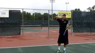 In this video, Creator Daniel Dodson, shows how the basic motion of throwing a football can help you learn the proper elbow movement of the tennis serve!