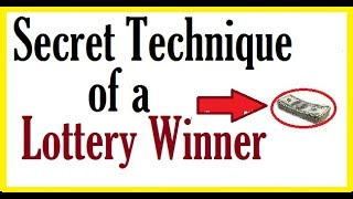 Lottery Winner Secret Technique and Guide in winning the JackpotAlso Check the 1st Technique: http://www.youtube.com/watch?v=n-WMgsdE9m8Don't Forget to Subscribe and Share