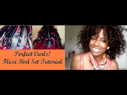 Flexi Rod Set on Natural Hair- Part 1
