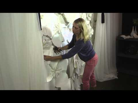 How to Decorate a Wall With Paper Flowers : Floral Designs