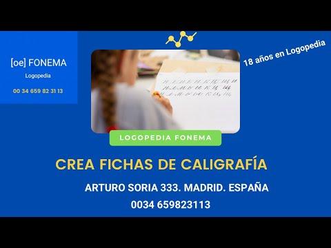 Ejercicios Caligrafía en LOGOPEDAS MADRID