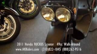 10. 2011 Honda RUCKUS Scooter  49cc Walk-Around