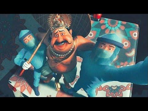 Happy CorOnam Troll 2020   maveli Animation Onam Corona song Corona Maveli #WithMe Karikku Onam