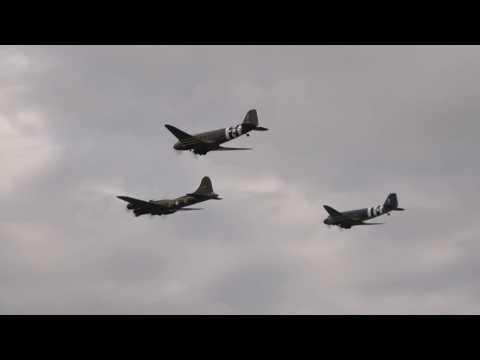 A pair of Douglas C-47 Skytrains...