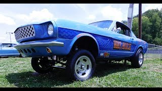 "The 1966 Ford Mustang Gasser ""War Horse""....I found it at the Southeast Gassers Association 2017 Knoxville Dragstrip eventThe car was built by David Reese built the Car back in 2013...It runs a 351 Cleveland and a all steel tilt front end....It is a race Car..But it's built for show to...And what fun would any of that be..If you couldn't drive it on the street....The car has been driven cross country....A real deal...Gasser race car...Show car....Street car...Very cool car...Check it out!!!..Make sure you Subscribe to this Channel and Visit www.ScottieDTV.com For cool new content weekly!!!"
