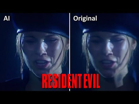 Resident Evil 1996 Uncensored FMV vs AI Machine Learning Side by Side