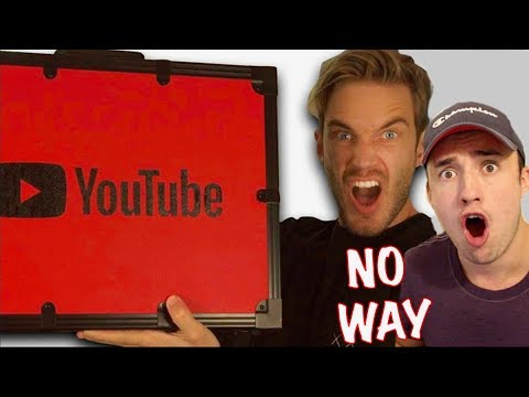 PewDiePie Unboxing 100 MIL YouTube AWARD!! (REACTION)