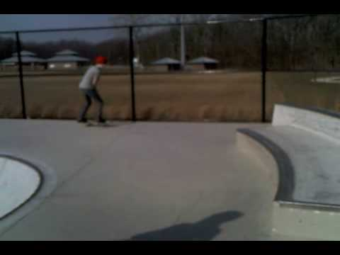 caleb skating at Hazel Dell skatepark in fishers Indiana