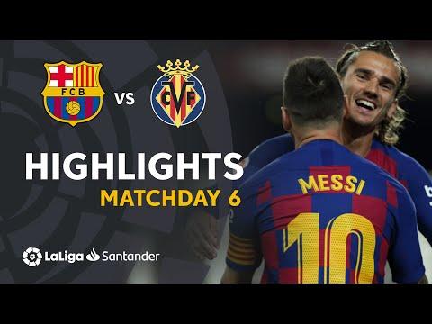 FC Barcelone vs villareal 24-09-2019