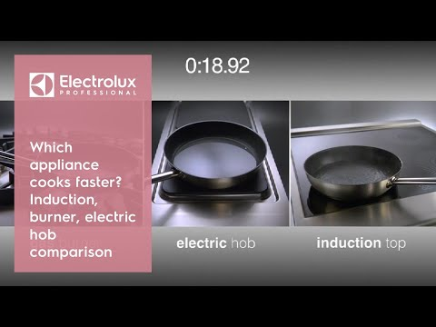 Which appliance cooks faster Induction, burner or electric hob?