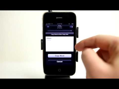 AccelaStudy Spanish English iPhone App Demo