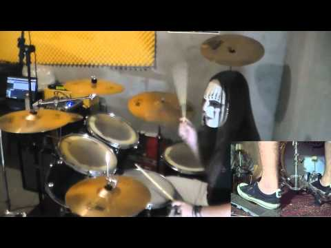 Slipknot – Psychosocial Drum Cover with Joey Jordison Mask drum play-through