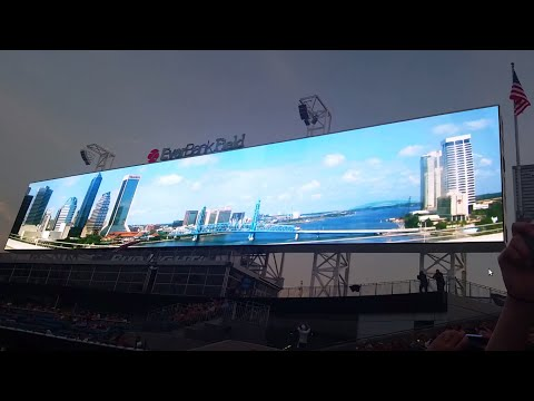 Field - Shad Khan and the Jacksonville Jaguars unveil the biggest scoreboards in the world. The reveal followed a soccer match between DC United and Fullham FC and the night ended with Carrie Underwood...