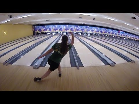 Video thumbnail: Wright State women's bowling team hitting their mark