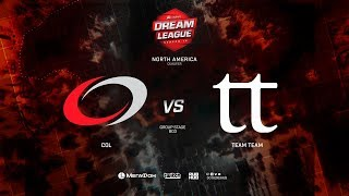 coL vs  Team Team , DreamLeague Minor Qualifiers NA,bo3, game 1 [Mila & Inmate]