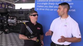 Evan J. Smith and Ford Engineer Adam Wirth talk about the Shelby GT350 MagneRide active suspension