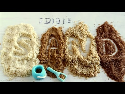 Edible Sand for Cake Decorating HappyFoods - Watch the video