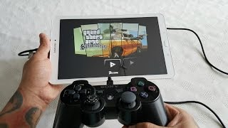 Samsung Galaxy Tab E 9.6 Gaming With PS3/PS4 Controller