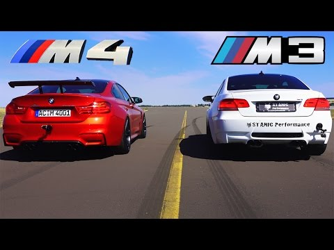 bmw m3 v8 e92 sound performance vs bmw m4 e92