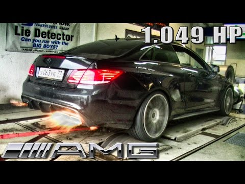 Mercedes E63 AMG Coupe 1049 HP GAD Motors DYNO RUN + FLAMES! by AutoTopNL (видео)