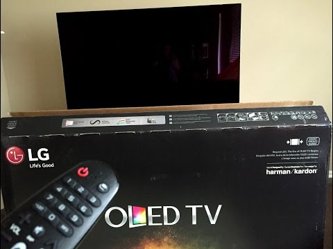 Unboxing LG OLED TV 4K Smart 3D OLED LG 55