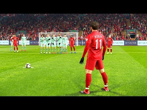 PES 2019 | LIVERPOOL VS ARSENAL | Salah Free Kick Goal | Gameplay PC