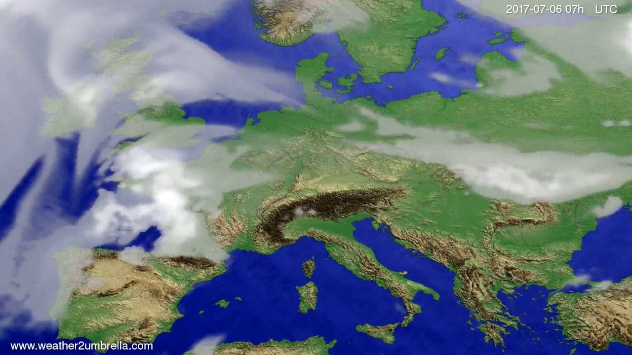 Cloud forecast Europe 2017-07-02