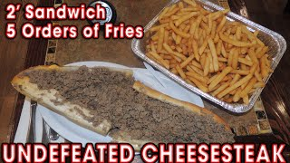 Philly Cheesesteak Sandwich UNDEFEATED Challenge!!