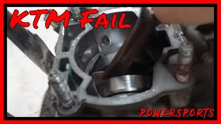 7. KTM Crank Bearing Failure At Top Speed - FML - Splitting The Cases (Preview)