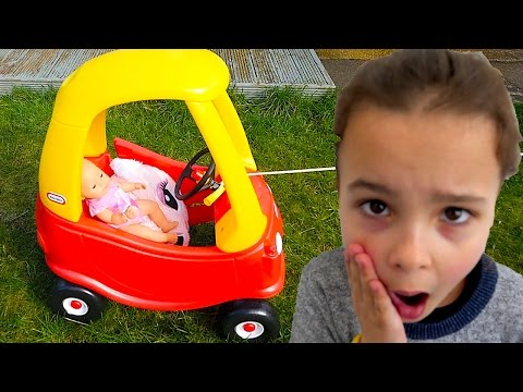 Video Naughty Baby driving a COZY COUPE Little Tikes car, Kids & Baby playing download in MP3, 3GP, MP4, WEBM, AVI, FLV January 2017
