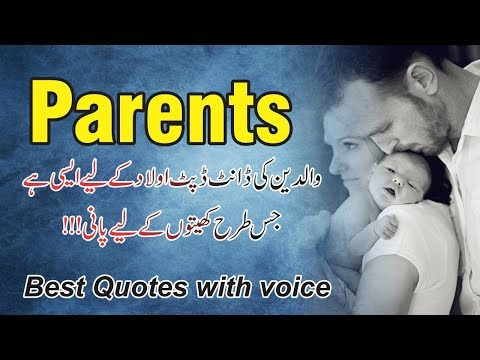Good quotes - Maa Baap Quotes with voice  Parents Quotes  Waldain aqwal e zareen