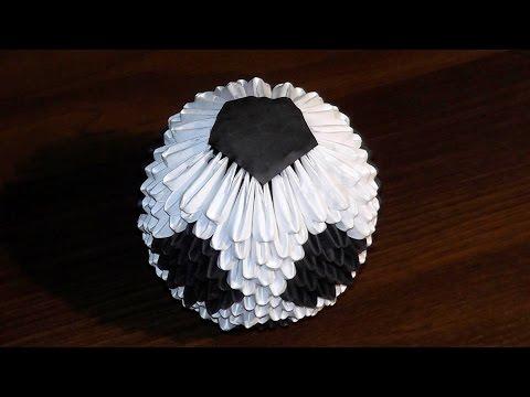 Модульное оригами футбольный