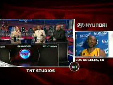Kenny Smith tries to imitate Kobe jumping the aston martin