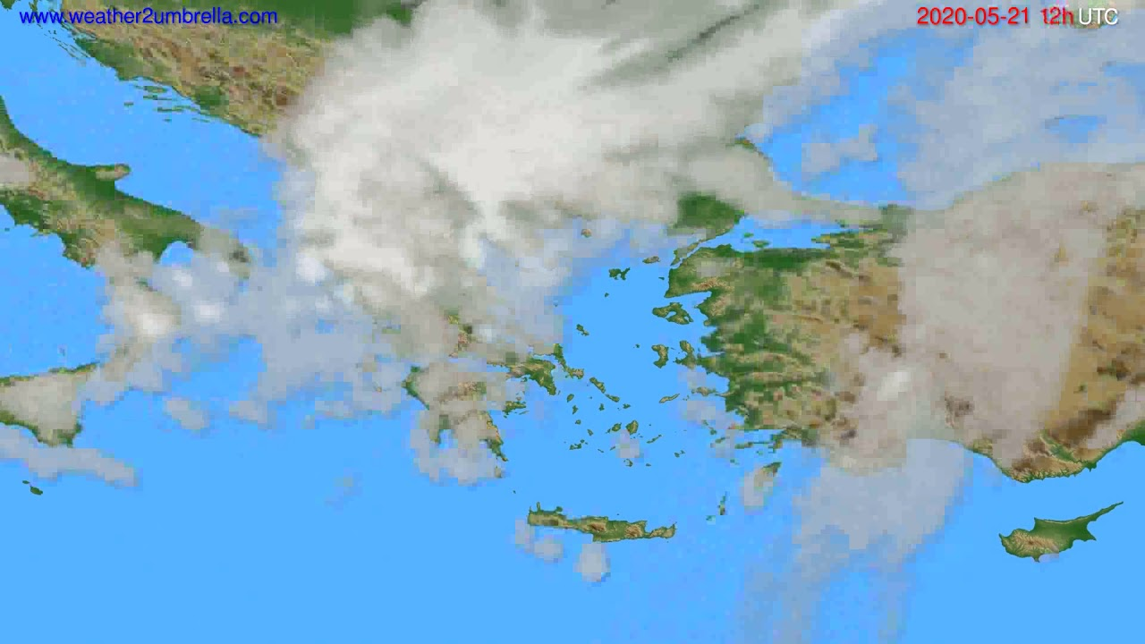 Cloud forecast Greece // modelrun: 00h UTC 2020-05-21