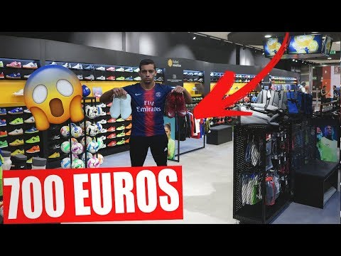 ON PREND PLUS DE 700 EUROS D'AFFAIRES DE FOOTBALL ! VLOG