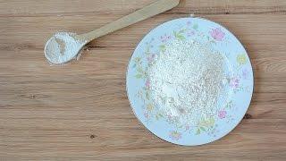 Selbstgemischtes glutenfreies Mehl mit Pfeilwurzelstärke