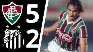 Em jogo pelo Brasileirão, o Tricolor do RJ goleia o Peixe em São januário.