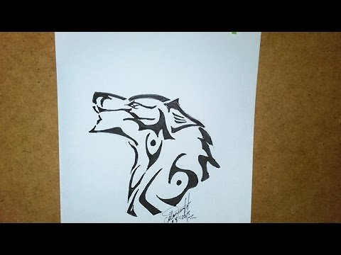 Download Video Como Dibujar Un Lobo Tribal Para Tatuaje, How To ...