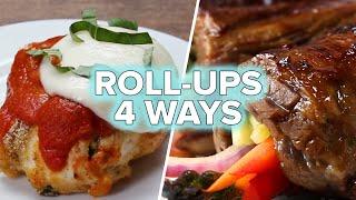 Dinner Roll-Ups 4 Ways by Tasty